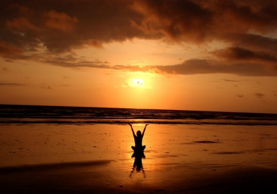 Beach meditation_naples beach getaway_naples florida sunset